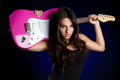 gitara gracz Obraz Royalty Free