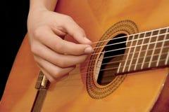 gitara gracz Obrazy Stock