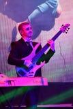 Gitara gracz na scenie podczas Dużej Jabłczanej muzyki Nagradza 2016 koncert Zdjęcia Royalty Free