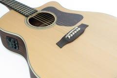 Gitara jako biały tło Obraz Stock