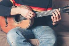 gitara jego gry Obraz Stock