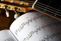 gitara klasyczni tunery Obraz Royalty Free