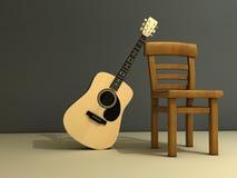 gitara krzesło ilustracji