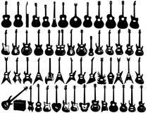 Gitara kształty Fotografia Stock
