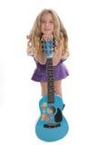 gitara małej dziewczyny Zdjęcia Stock