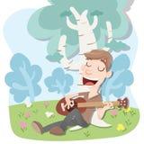 Gitara na wakacje Fotografia Stock