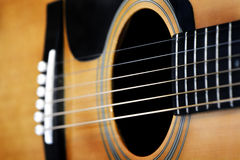 Gitara sznurki dla muzyki Bawić się piosenki Zdjęcia Stock