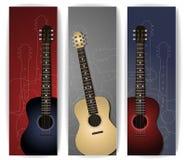 Gitara sztandary Zdjęcia Royalty Free