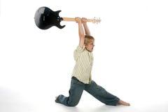 gitara upadanie chłopcze Obrazy Stock
