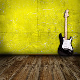 Gitara w pokoju ilustracji