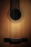 Gitara zawiązuje zbliżenie Zdjęcia Stock