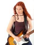 Gitarist 3 van de roodharige Royalty-vrije Stock Foto