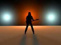 Gitarist Stock Afbeelding