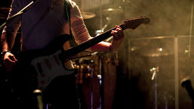 Gitarist op stadium Royalty-vrije Stock Fotografie