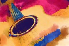 Gitarr Fotografering för Bildbyråer