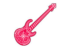 gitarr stock illustrationer