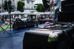 Gitarr ampere Fotografering för Bildbyråer
