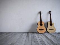 gitarr 3ds i rummet Arkivfoto