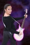 gitarr för 01 flicka Arkivfoto