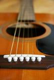 gitarr för close 2 upp Arkivbild