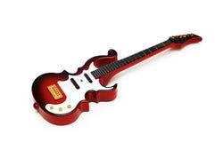 gitarr isolerad rockwhite Fotografering för Bildbyråer