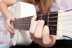 Gitarr musik arkivfoto