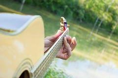 Gitarr på dammet royaltyfria foton