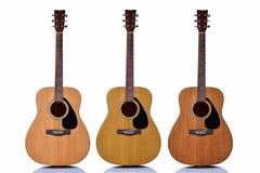 Gitarr på vit bakgrund Royaltyfria Bilder
