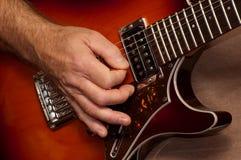 gitarr solo royaltyfri bild