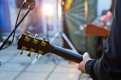 gitarr solo Arkivbild