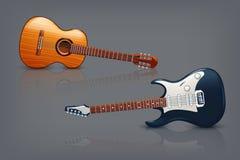 Gitarrbild vektor illustrationer