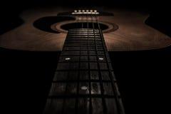 Gitarre akustisch, idealer Gebrauch für Hintergrund Stockfotos