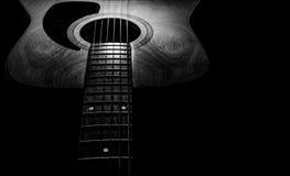 Gitarre akustisch, idealer Gebrauch für Hintergrund Stockfotografie