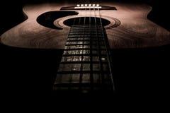 Gitarre akustisch, idealer Gebrauch für Hintergrund Stockbilder