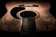 Gitarre akustisch, idealer Gebrauch für Hintergrund Lizenzfreies Stockfoto