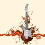 Gitarre auf einem Hintergrund stock abbildung