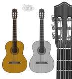 Gitarre in der Stichart Lizenzfreie Stockbilder
