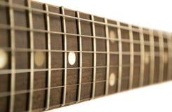 Gitarre fretboard Stockbild