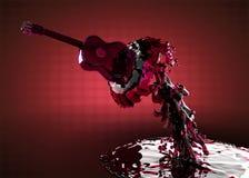 Gitarre im Wasser Stockfotos