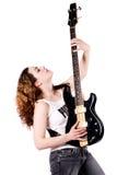 Gitarre oben Stockfoto