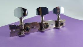 Gitarre Tunner, gemacht vom Metall stockbild