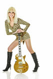 Gitarre und Mädchen Lizenzfreies Stockbild