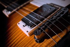 Gitarren-Brücke Lizenzfreies Stockbild