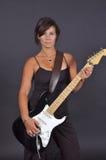 Gitarren-Frau Stockbild