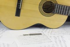Gitarren-Körper-Bild stockbild