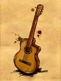 Gitarren-Malerei-Bild vektor abbildung