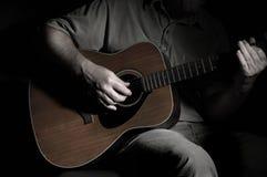 Gitarren-Mann Stockfoto