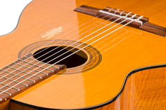Gitarren-Nahaufnahme Stockfotos