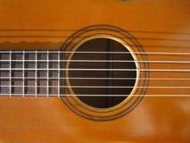 Gitarren-nahes hohes Stockbild