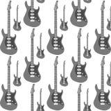 Gitarren-nahtloser Hintergrund Lizenzfreie Stockbilder